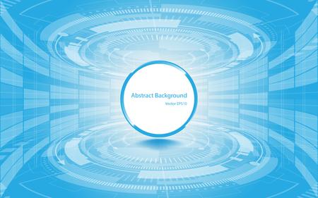 Abstract technology background Hi-tech communication concept innovation background vector illustration Illustration