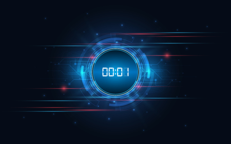 Abstract technology background Hi-tech communication concept innovation background vector illustration Vettoriali