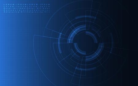 Fondo de tecnología abstracta Ilustración de vector de fondo de innovación de concepto de comunicación de alta tecnología Ilustración de vector