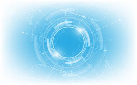 Fond de technologie abstraite Hi-tech communication concept innovation fond vector illustration