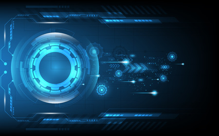 Abstract technology background Hi-tech communication concept innovation background vector illustration Vectores