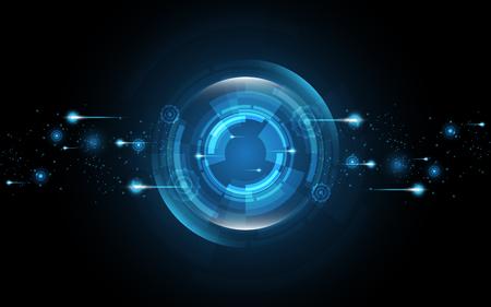 Abstrakcyjne tło technologii Hi-tech komunikacja koncepcja innowacji tła ilustracji wektorowych