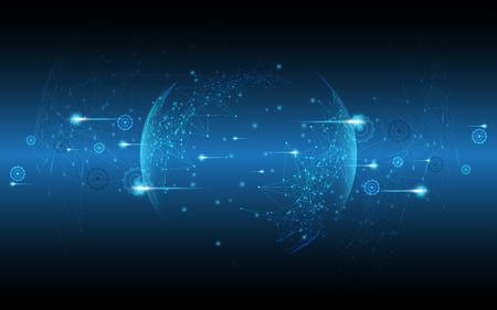 Illustrazione astratta di vettore del fondo dell'innovazione di concetto di comunicazione di ciao-tecnologia