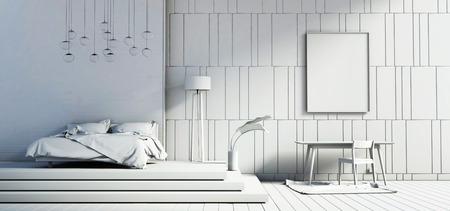 light and shadow: bedroom interiors loft light shadow
