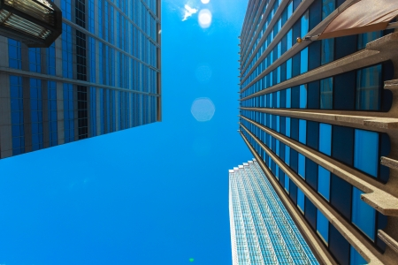 Three building blue photo