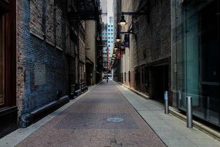city alley: Alley dark in USA