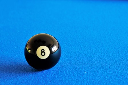 Pool black  ball number eight
