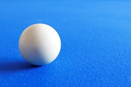 Pool white ball in living room Banque d'images
