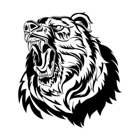 Bear Head mascot  design Template.