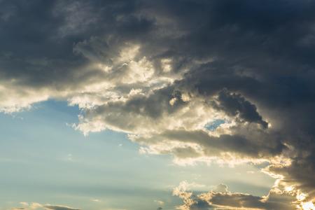 strom: Dark clouds before rainfall
