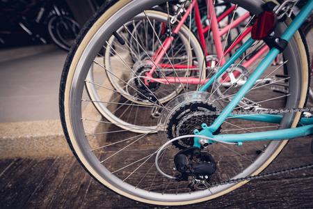 close up bicycle gears,vintage filter Zdjęcie Seryjne