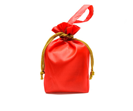 Red bag on white background .Chinese used in Chinese New Year