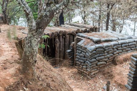 bunker: sand bag bunker