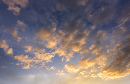beautiful clouds at sunset time