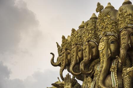 golden ganesha and sky