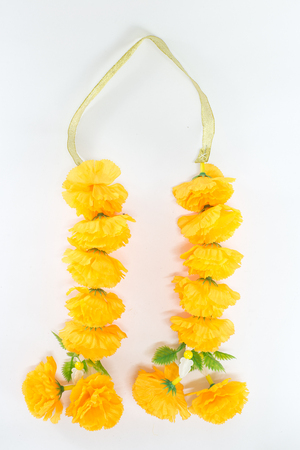 Fake yellow flower garland isolated on white background stock photo fake yellow flower garland isolated on white background stock photo 83395764 mightylinksfo