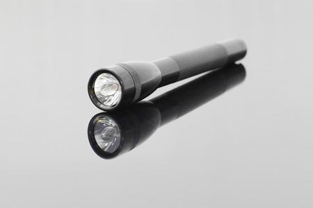 flash light: Black Torch Flash Light Stock Photo