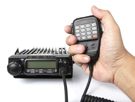 transceiver: Black radio transceiver Stock Photo