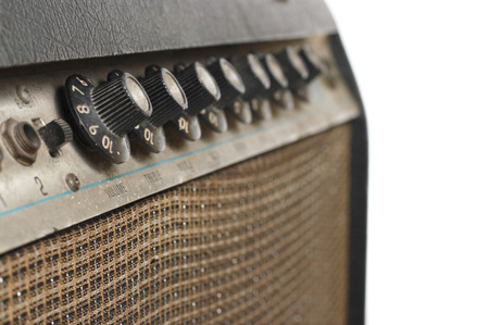 guitar amplifier: Old Guitar amplifier in White background