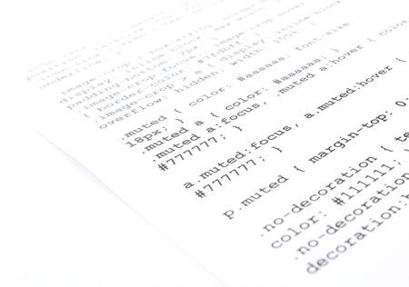 programing: Cascading style sheet language closeup