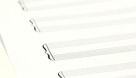 sheet music: Blank Script music sheet Stock Photo