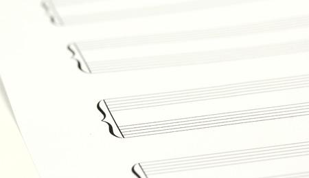 hoja en blanco: Guión de hoja de música en blanco