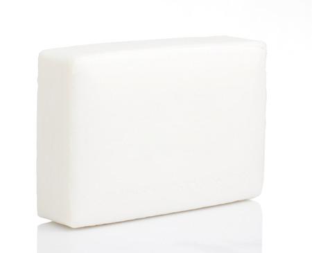 White bar soap on White background