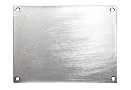 metalic texture: Blank Stainless steel Plate