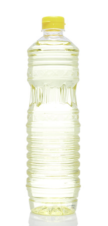 cooking oil: Plastic bottle cooking oil on White background Stock Photo