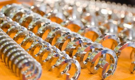 bobina: Muelle helicoidal espiral Foto de archivo