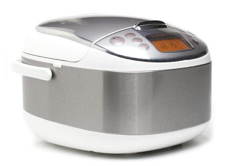 Electric Rice Cooker on White background