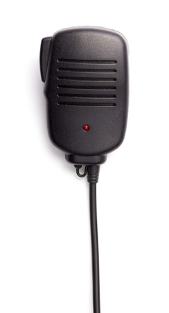 walkie: Walkie Talkie Microphone on White background Stock Photo