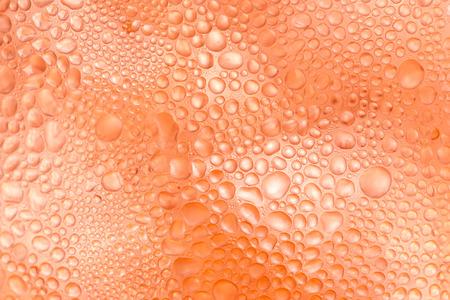 condensacion: Textura Fondo naranja gota condensación Foto de archivo