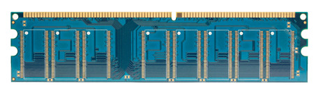 memory stick: Blue Ram Memory Stick on White background Stock Photo