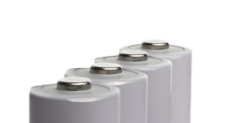 rechargeable: White Rechargeable Battery White background