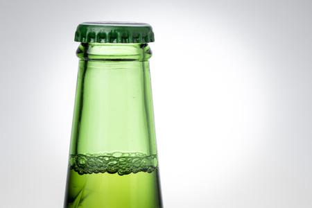 green beer bottle: Top of Green Beer Bottle Vignette Background