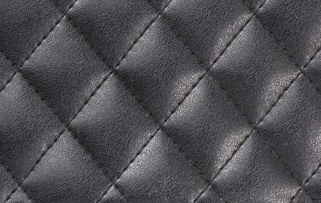 diamante negro: Cuero negro patrón de forma de diamante Foto de archivo