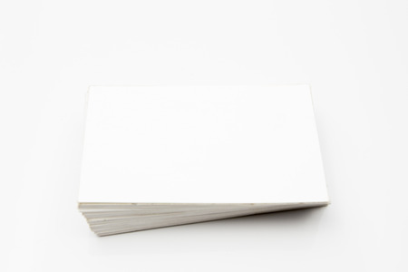 namecard: Pile of Blank namecard in White background
