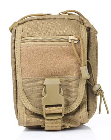 animal pouch: Front Tactical pouch in White background