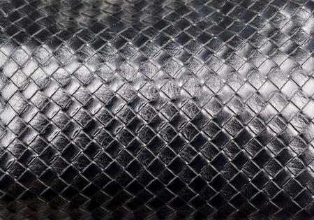 tabellare: Black Leather tabular Pattern Closeup shot Archivio Fotografico