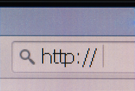 http: http address bar browser closeup