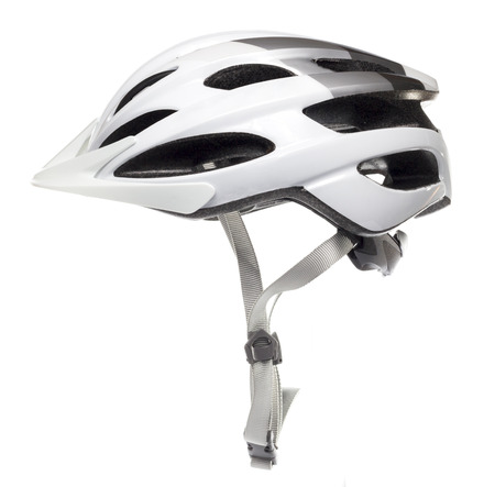 bike race: White Bicycle Helmet in White background