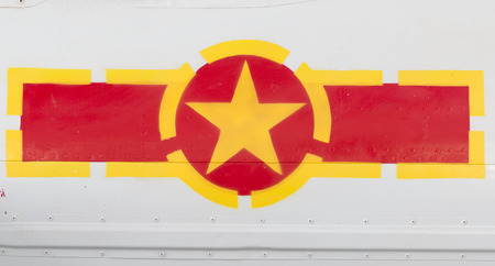 vietnam flag: Vietnam Flag Symbol on Air force Plane