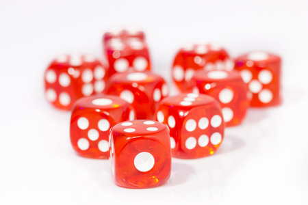 red dice: Red Dice on White background