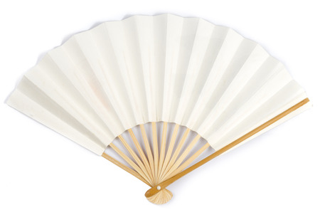 paper fan: White Paper Fan on White background Stock Photo