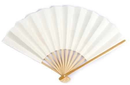 White Paper Fan on White background Banco de Imagens