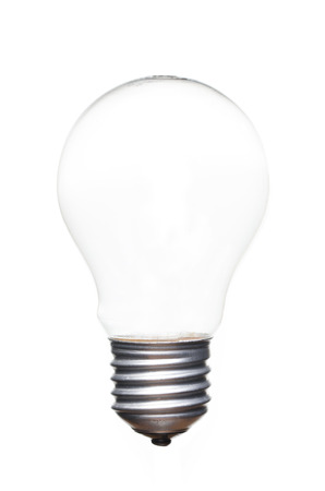 Leere Glühbirne Filament auf weißem Hintergrund Standard-Bild - 44141590