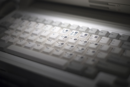 teclado de computadora: Viñeta del teclado del ordenador viejo