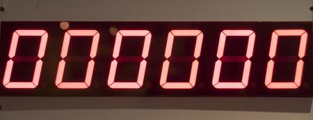 Zero Digital Number Board