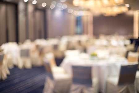 elegant party: Dining Room Hotel Blur Background